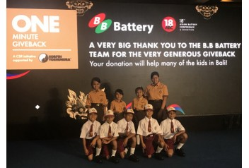 B.B. Battery engage in The 'One Minute Giveback' initiative